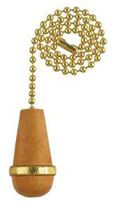Westinghouse Lighting 7701900 Wooden Cone Natural Finish Pull Chain