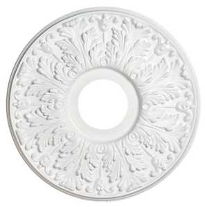 Westinghouse Lighting 7702800 Victorian White Finish Ceiling Medallion