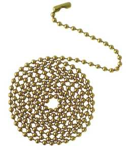 Westinghouse Lighting 7705000 Solid Brass Beaded Chain with Connector