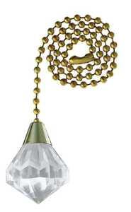 Westinghouse Lighting 7709300 Acrylic Diamond Pull Chain