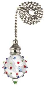 Westinghouse Lighting 7762000 Multi-Color Dotted Glass Orb Pull Chain