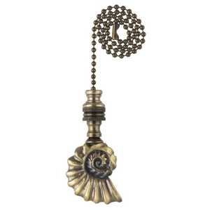 Westinghouse Lighting 7764500 Antique Brass Finish Shell Pull Chain