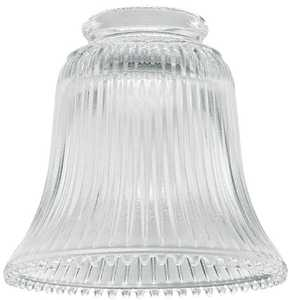 Westinghouse Lighting 8125800 Clear Ribbed Glass Bell Shade
