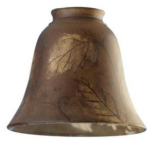 Westinghouse Lighting 8126500 Hand-Painted Leaf Design Glass Bell Shade