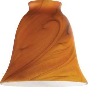 Westinghouse Lighting 8136300 Burnt Umber Swirl Glass Bell Shade