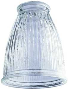 Westinghouse Lighting 8147900 Crystal Clear Pleated Glass Shade