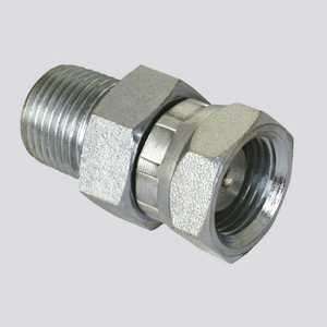 Apache Hose and belting 39004380 1/2 In Male Pipe Thread X 1/2 In Female Pipe Thread Swivel With 1/16 In Restrictor Hydraulic Adapter