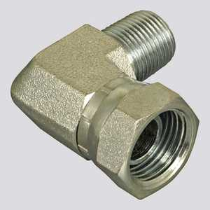 Apache Hose and belting 39005075 3/8 In Male Pipe Thread X 3/8 In Female Pipe Thread 90° Swivel Hydraulic Adapter