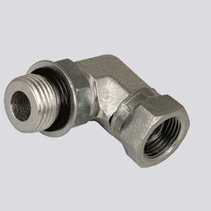 Apache Hose and belting 39006126 1/2 In Male O-Ring Boss X 3/8 In Female Pipe Thread 90° Swivel Hydraulic Adapter