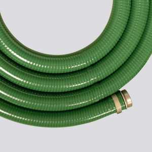 Apache Hose and belting 98128010 1-1/2 In X 20 Ft Green PVC Suction Hose Assembly Pin Lug