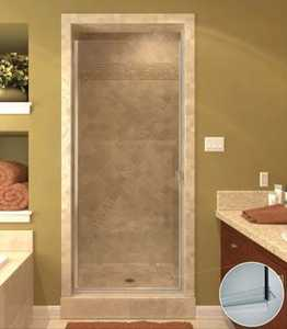 Arizona Shower Door R-28X66CHRN Reversible Shower Door Chrome Rain 28-29 x 66