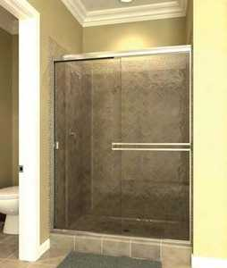 Arizona Shower Door SE-48X7038CHRN Shower Door Chrome Rain 48 x 70 3/8