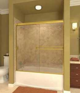 Arizona Shower Door TE-60X5738BNRN Tub Door Brushed Nickel Rain 60 x 57 3/8