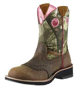 ARIAT INTERNATIONAL, INC 10006854 Women's Fatbaby Cowgirl Boot Distress Brown 10