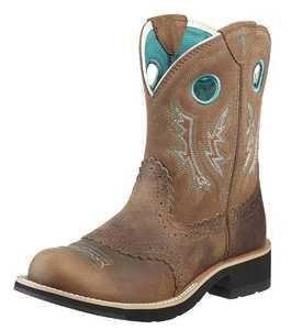 ARIAT INTERNATIONAL, INC 10010219 Women's Fatbaby Cowgirl Boot Powder Brown 9b
