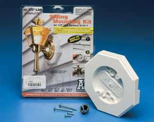 Arlington Industries, Inc 8141-1 1/2 In Lap Siding Mounting Kit With Built-In Box