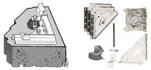 ARROW GROUP/STORAGE BLDG AK100 Concrete Anchor Kit