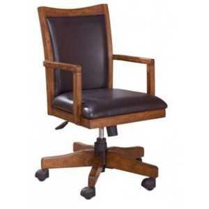 Signature Design By Ashley H319-01A Home Office Swivel Desk Chair Cross Island Medium Brown