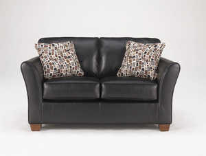 Signature Design By Ashley 3770135 Rockport Durahide Loveseat In Onyx