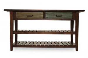 Signature Design By Ashley T580-4 Mestler Rustic Brown Sofa Table