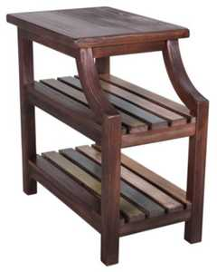 Signature Design By Ashley T580-7 Chair Side End Table Mestler Rustic Brown