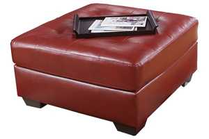Signature Design By Ashley 2010008 Alliston DuraBlend Salsa Oversized Accent Ottoman