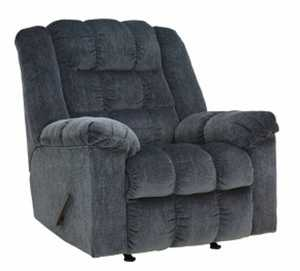 Signature Design By Ashley 8110525 Ludden Blue Rocker Recliner