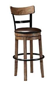Signature Design By Ashley D542-130 Pinnadel Tall Upholstered Swivel Barstool