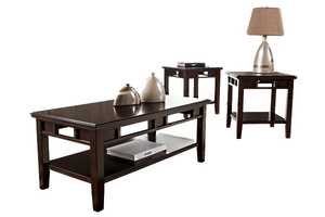 Signature Design By Ashley T160-13 Logan 3-Piece Occasional Table Set