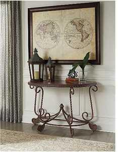 Signature Design By Ashley T382-4 Rafferty Sofa/Console Table