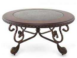 Signature Design By Ashley T382-8 Rafferty Dark Brown Round Cocktail Table