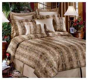 Signature Design By Ashley Q010455 Bed In Bag Romanoff Gilt