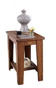 Signature Design By Ashley T353-7 Toscana - Rustic Brown Chair Side End Table