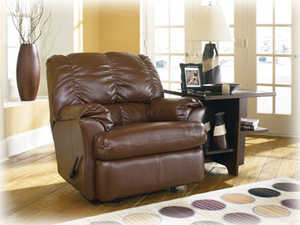 Signature Design By Ashley 9280025 DuraBlend Chestnut Rocker Recliner