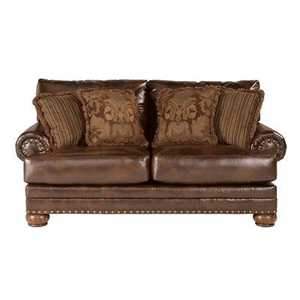 Signature Design By Ashley 9920035 Chaling Durablend Antique Loveseat