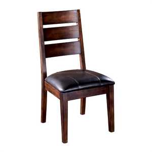Signature Design By Ashley D442-01 Larchmont - Burnished Dark Brown Dining Uph Side Chair (2/Cn)