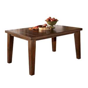 Signature Design By Ashley D442-25 Larchmont - Burnished Dark Brown Rectangular Dining Room Table