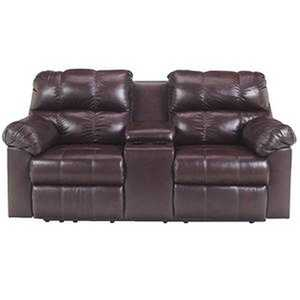 Signature Design By Ashley 9650194 Max Double Reclining Loveseat In Chocolate