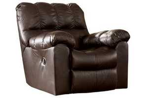 Signature Design By Ashley 9650128 Max Swivel Rocker Recliner In Chocolate