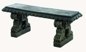 Athens Stonecasting 103556 Rope Bench With Claw Legs