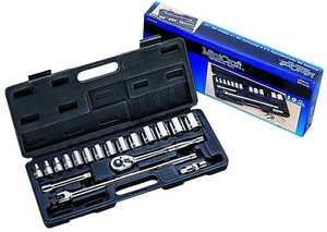 Vulcan TS10193L 1/2-Inch Drive Sae Socket Wrench Set 19-Piece