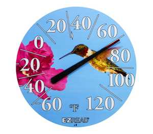 Headwind 840-1219 Dial Thermometer With Hummingbird 12.5 in
