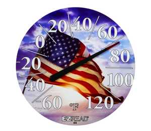 Headwind 840-1221 Dial Thermometer With American Flag 12.5 in