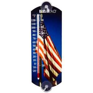 Headwind 840-0042 Indoor/Outdoor Thermometer American Flag 10 in
