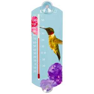 Headwind 840-0044 Indoor/Outdoor Thermometer Hummingbird 10 in