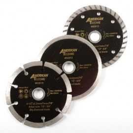 ATE Pro Tools 93513 4-1/2-Inch Diamond Wet, Dry, Turbo Saw Blade Set 3-Piece