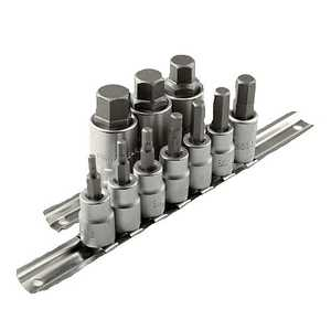 ATE Pro Tools 10915 3/8-Inch And 1/2-Inch Drive Hex Bit Socket Set 12-Piece