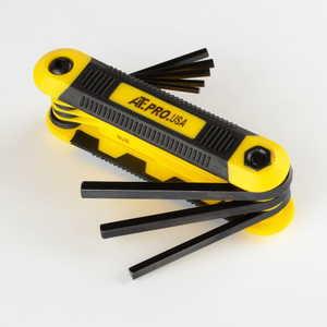 ATE Pro Tools 91445 Folding Hex Key Sae Set 8-Piece