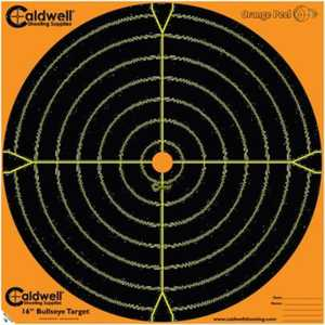Caldwell 120556 12-Inch Orange Peel Bullseye Paper Target 5-Pack