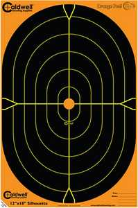 Caldwell 488789 Orange Peel Oval And Silhouette Targets 5-Pack